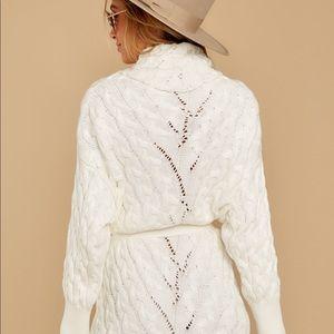 Turtleneck sweater dress white
